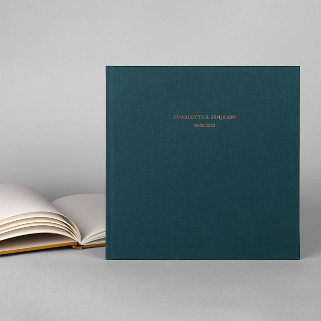 Livre d'or mariage personnalisé vert