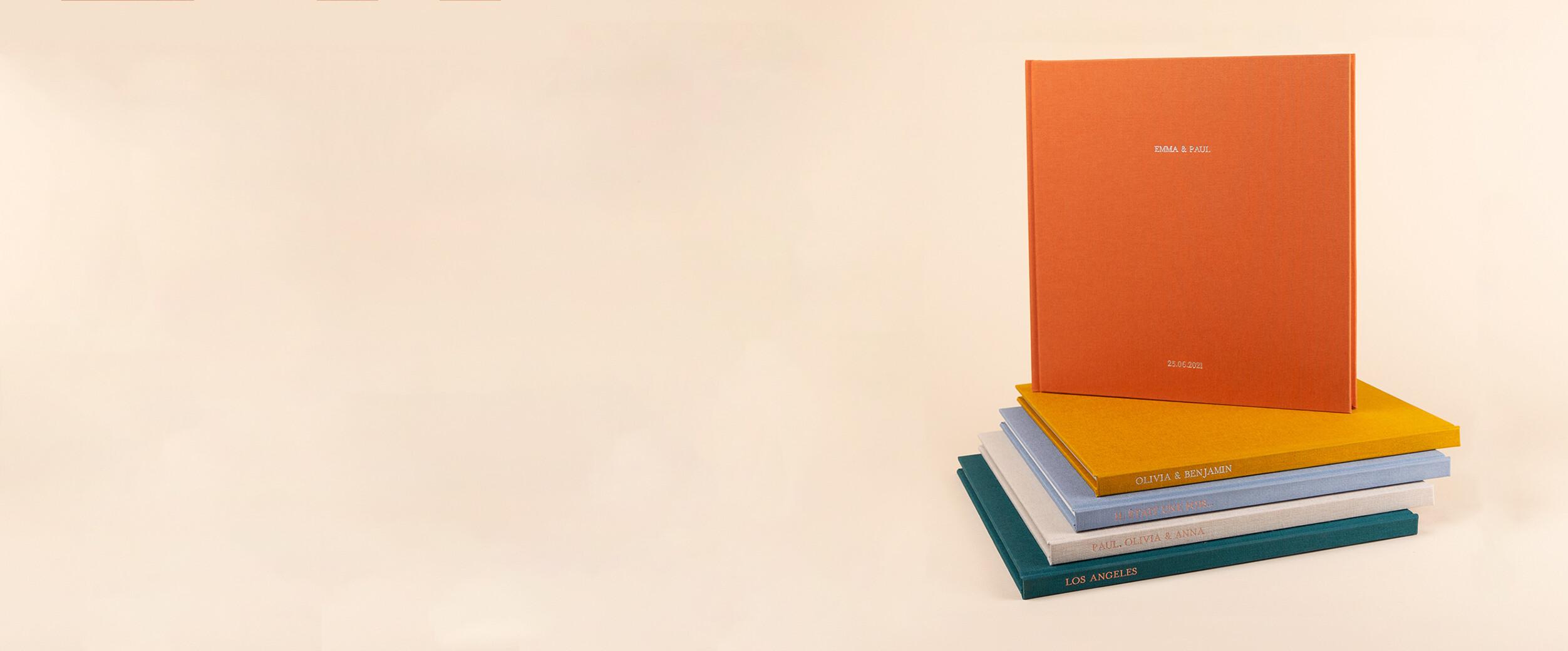 Idée cadeau album photo couverture tissu