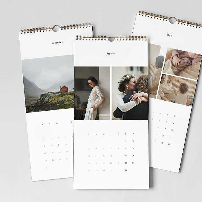Intérieur calendrier photo