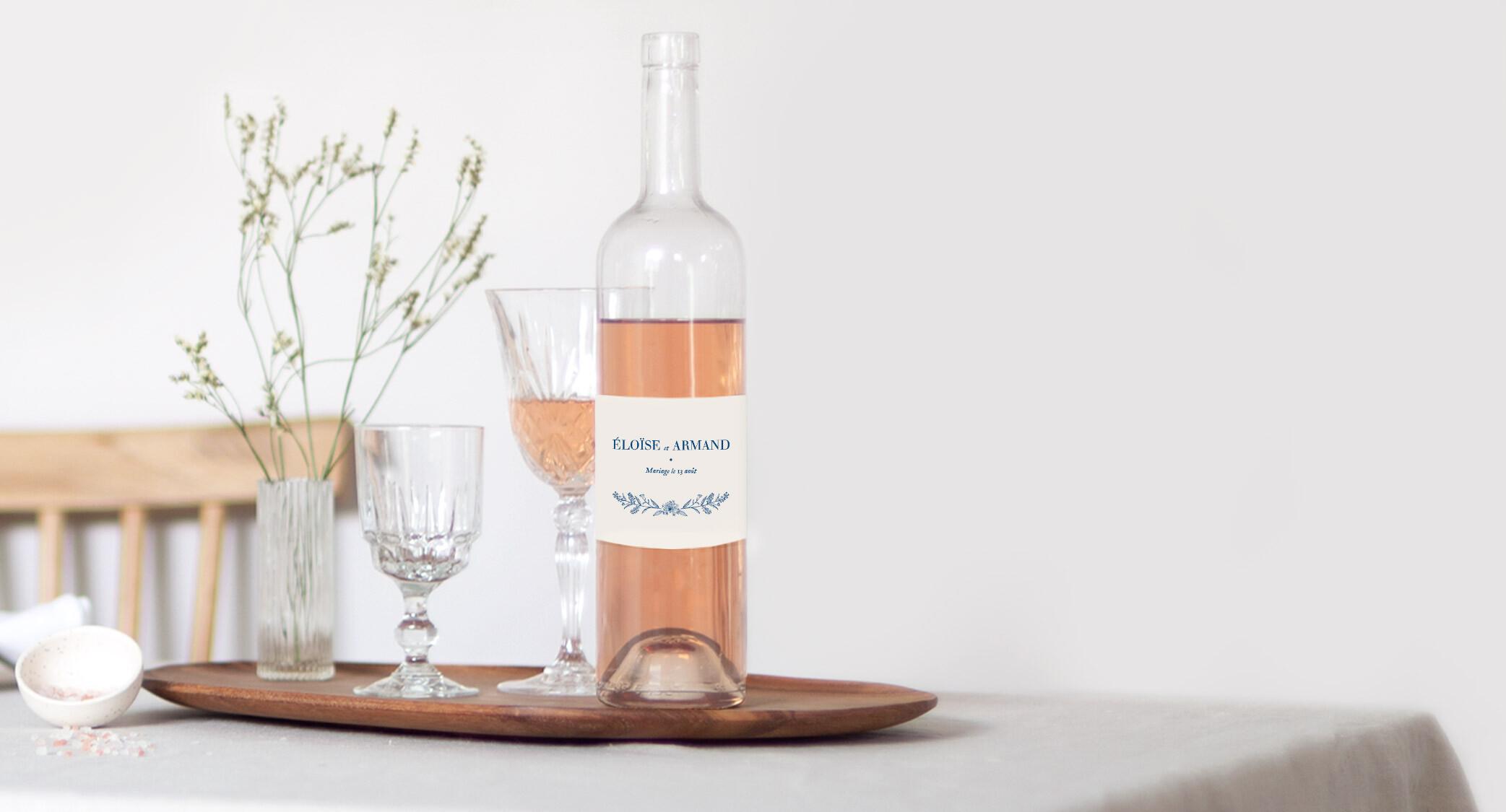 Etiquette de bouteille de champagne personnalisée