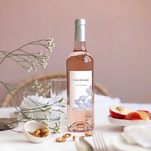 Etiquette personnalisée pour bouteille de vin