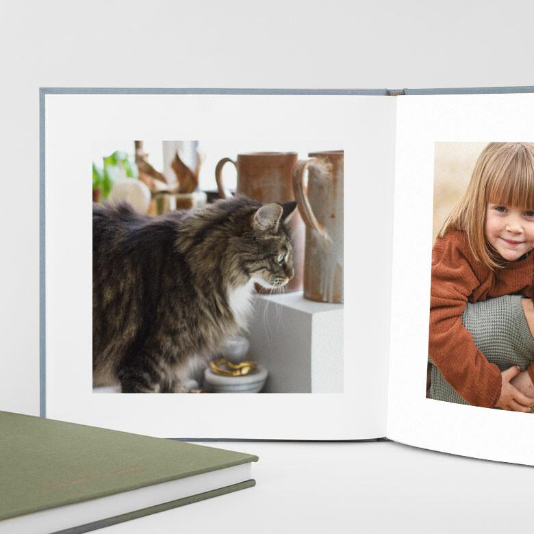 Album photo animaux couverture tissu