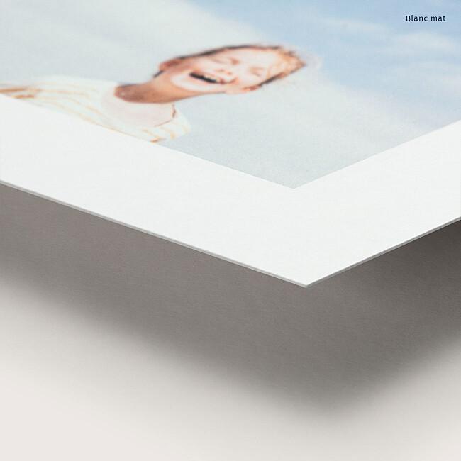 Tirage premium papier blanc mat
