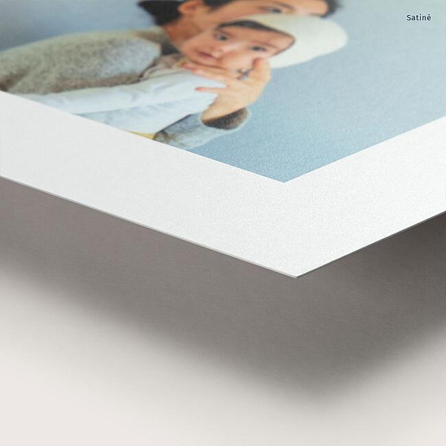 Tirage premium papier satiné brillant
