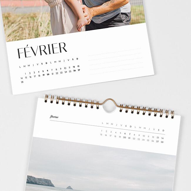 Intérieur calendrier photo A4