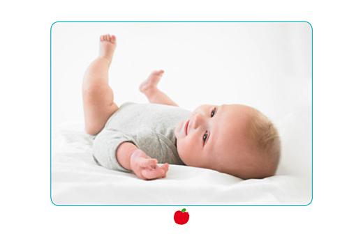 Faire-part de naissance Pomme rouge