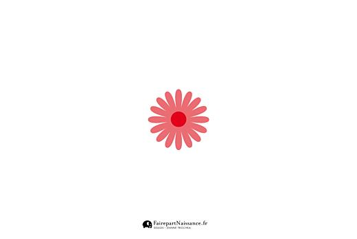 Faire-part d'adoption Fleur rose 1