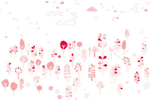 Faire-part de naissance Forest rose 1