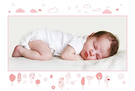 Faire-part de naissance Forêt rose photo rect 1