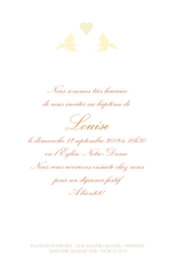 Faire-part de baptême Colombes orange - Page 3