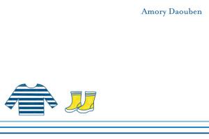 Carte de remerciement Petit marin bleu