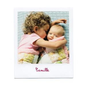Faire-part de naissance Polaroid blanc