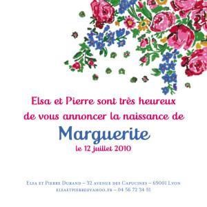 Faire-part de naissance Provence rose