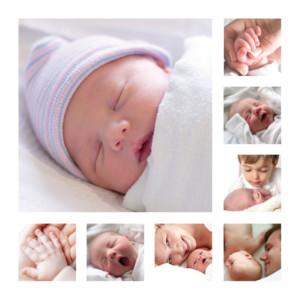 Faire-part de naissance Bébé en détail blanc