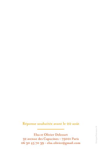 Faire-part de baptême Orangé eglise jaune rv - Page 2
