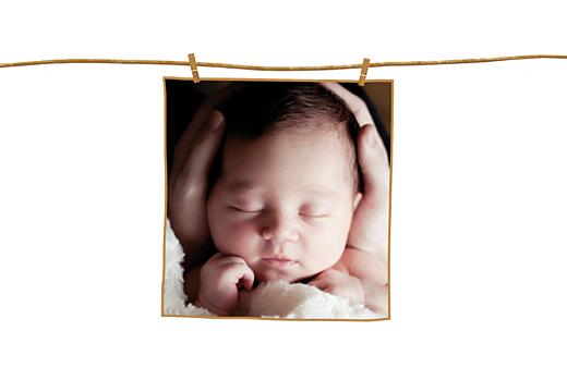 Faire-part de naissance Fil à linge photo fille - Page 2