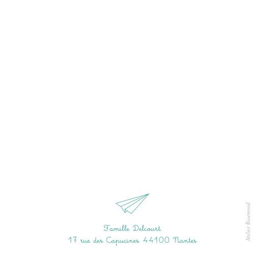 Carte de remerciement Petit origami avion vert
