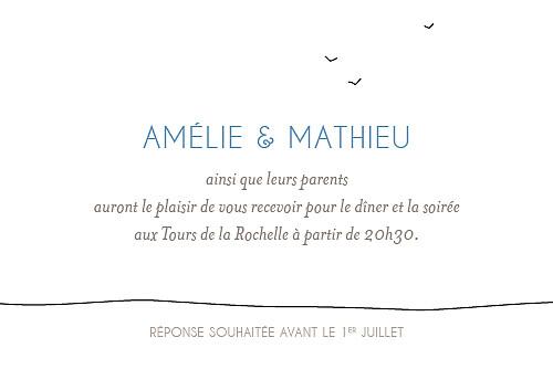 Carton d'invitation mariage Promesse blanc - Page 2