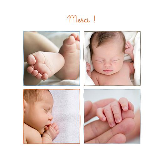 Carte de remerciement 4 photos fleurette merci