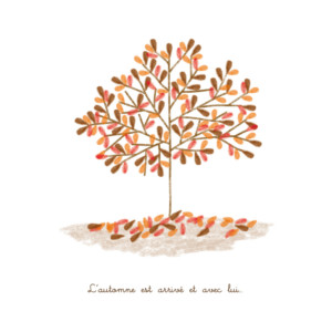 Faire-part de naissance Automne (4 pages) brun