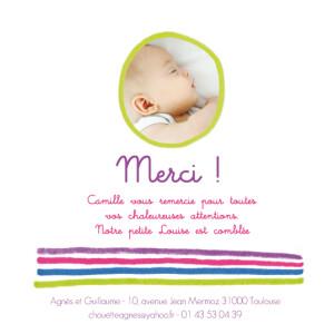 Carte de remerciement Petit dessin photo vert
