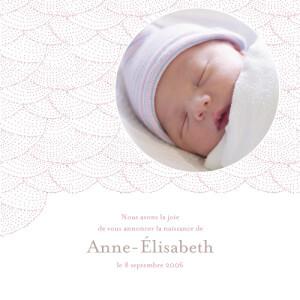 Faire-part de naissance Délicatesse rose parme