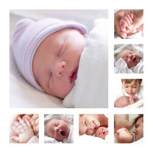 Faire-part de naissance Photo détail blanc