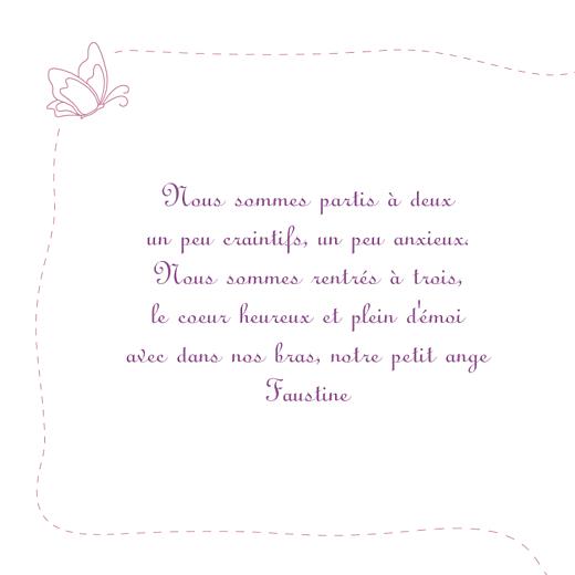 Faire-part de naissance Origami papillon 8 photos violet - Page 2