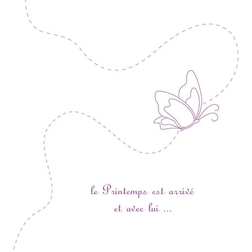Faire-part de naissance Origami papillon 3 photos violet