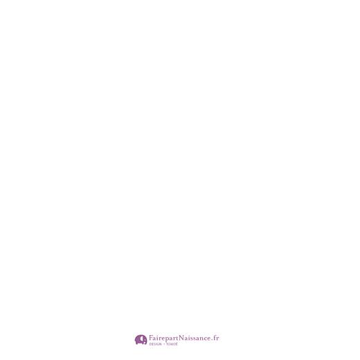 Faire-part de naissance Origami papillon 3 photos violet - Page 4