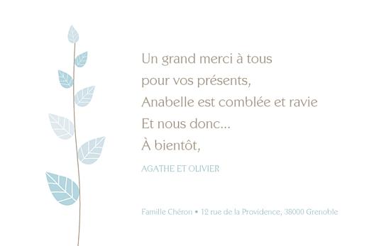 Carte de remerciement Petit élégance garçon bleu - Page 3