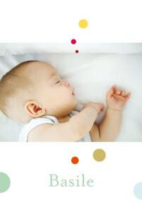 Faire-part de naissance So chic bulles 4p bulles vert