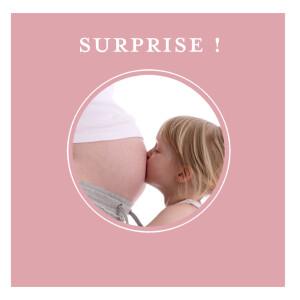 Faire-part de naissance Surprise rose