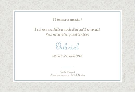 Faire-part de naissance Ambiance florale (paysage) garçon - Page 2