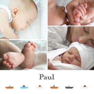 Faire-part de naissance Petits bateaux rv
