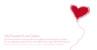Faire-part de mariage Haut les coeurs rouge - Page 1