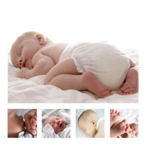 Faire-part de naissance 5 photos blanc