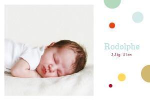 Faire-part de naissance Photo bulles mixte