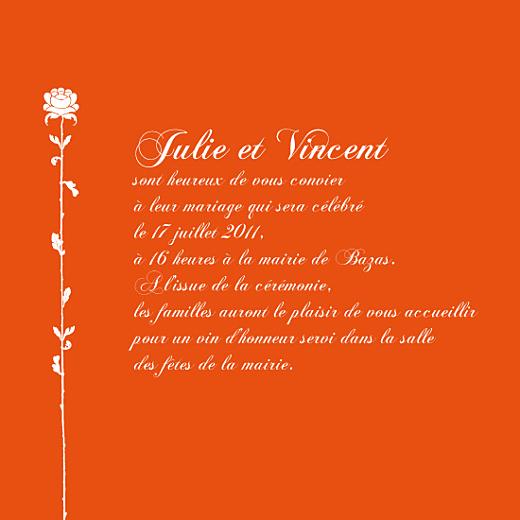 Faire-part de mariage Fleur de lotus orange