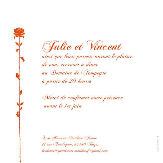 Faire-part de mariage Fleur de lotus orange - Page 2