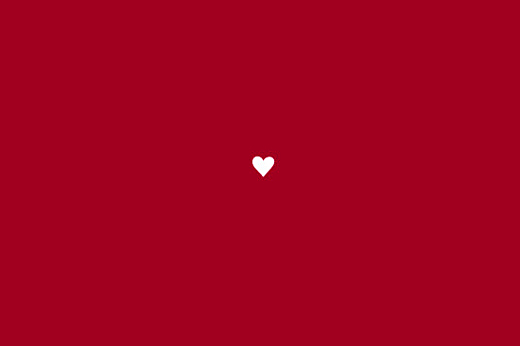 Carton d'invitation mariage Amour rouge