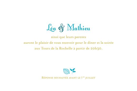 Carton d'invitation mariage Forêt bleu