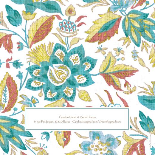 Faire-part de mariage Floral vert - Page 2