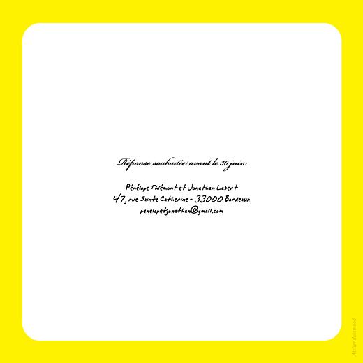 Faire-part de mariage Oui ! jaune - Page 2