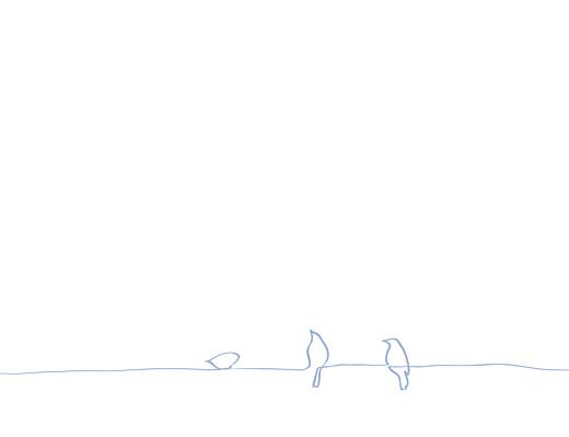 Faire-part de mariage Oiseaux bleuet