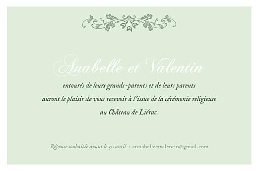 Carton d'invitation mariage Charme vert