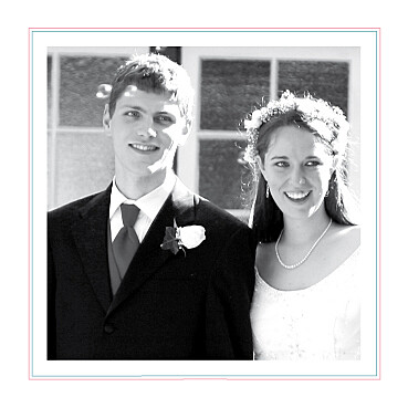 Carte de remerciement mariage Sweet blanc finition