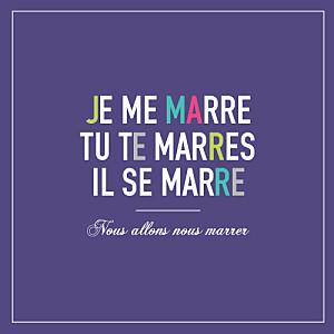 Faire-part de mariage violet marrons-nous violet