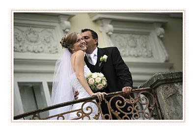 Carte de remerciement mariage Initiales photo finition