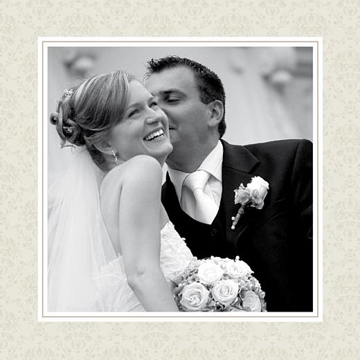 Carte de remerciement mariage Nous deux marron